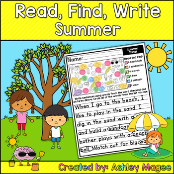 Read, Find, Write Summer - A writing center activity