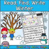 Read, Find, Write Winter - A writing center activity