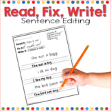 Read, Fix, Write! Spelling, Writing and Grammar Practice Through Editing