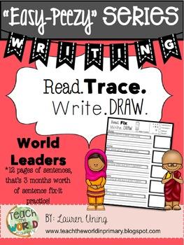 Read, Fix, Write, Draw - World Leaders