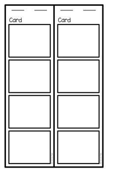 Read Flip Write Activity Card Bundle #1