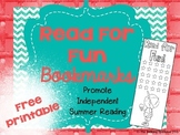 Read For Fun Bookmarks FREEBIE