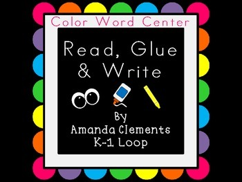 Read, Glue & Write: Color Words