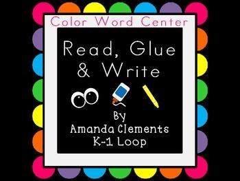 Read, Glue & Write: Color Words