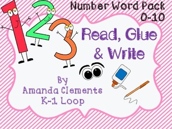 Read, Glue & Write - Number Words