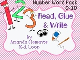 50% off!!!  Read, Glue & Write - Number Words Unit