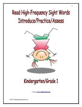 Read High-Frequency Sight Words: Introduce/Practice/Assess