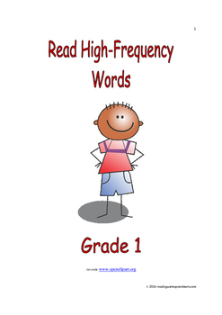Read High-Frequency Words: Introduce/Practice/Assess