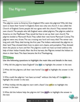 Read, Highlight, Write Second Grade Preview