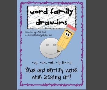 Read & Identify Word Families: -og, -ug, -at, -ig, -ing