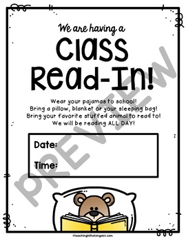 Class Pajama Day (Read In) Free