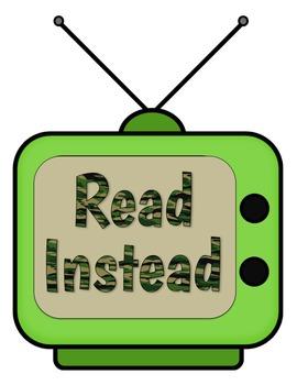 Read Instead Poster {FREEBIE - Great for Screen Free Week}