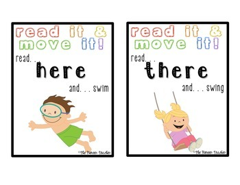 Read It And Move It! {FIRST Grade Sight Words}