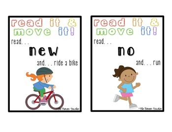 Read It And Move It! {Kindergarten Sight Words}