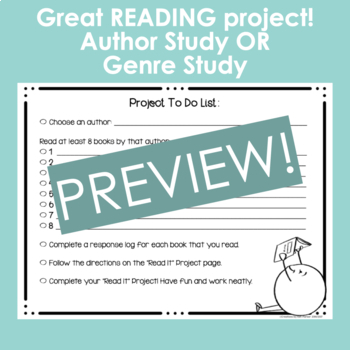 "Author Study Book Project- ""Read It"" Board  (A Spin on a Social Media Favorite)"