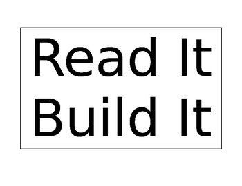 Read It Build It Pre-Primer Sight Words