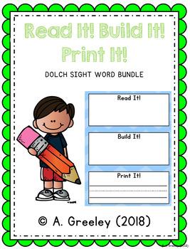 Read It! Build It! Print It! - Dolch Sight Word BUNDLE
