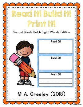 Read It! Build It! Print It! - Second Grade Dolch Sight Words