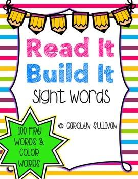 Read It Build It: Sight Words