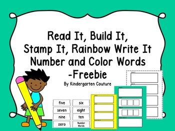 Read It, Build It, Stamp It, Rainbow Write It -FREEBIE