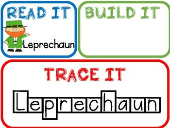 Read It Build It Trace It-St. Patrick's Day!