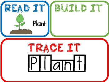 Read It, Build It, Trace Words- Plants Thematic Unit