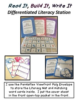 Read It, Build It, Write It 102 Sight Words with 2-Sided Letter Cards