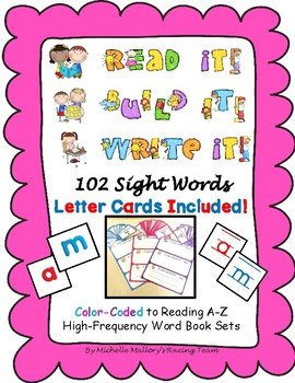 Read It!  Build It!  Write It! 102 Sight Words with 2-Sided Letter Cards