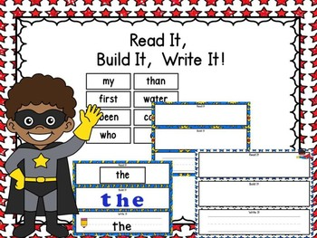 Read It, Build It, Write It & 200 Fry Word Cards