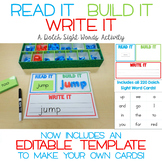 Read It, Build It, Write It - A Dolch Sight Words Center a