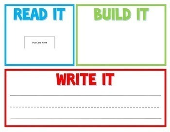 Read It, Build It, Write It Sight Words  - Also Includes an Editable Template!