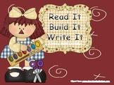 Read It, Build It, Write It CVC words