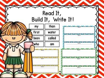 Read It, Build It, Write It Fry Words