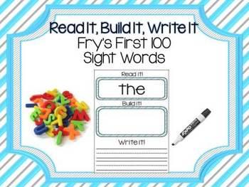 Read It Build It Write It Fry's First 100 Sight Words
