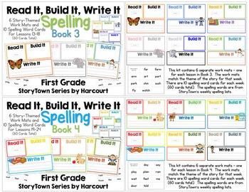 Read It, Build It, Write It Harcourt StoryTown Spelling Words: ENTIRE YEAR