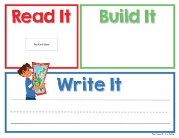 Read It, Build It, Write It Harcourt StoryTown Spelling Words for Book 1