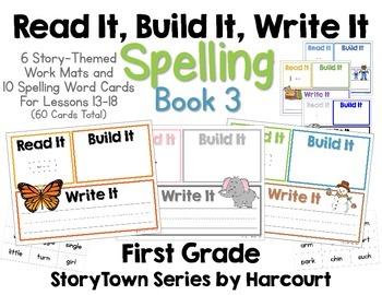 Read It, Build It, Write It Harcourt StoryTown Spelling Wo