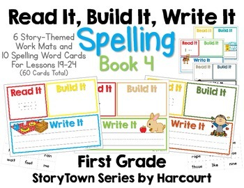 Read It, Build It, Write It Harcourt StoryTown Spelling Wo