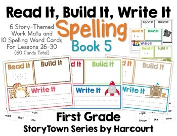 Read It, Build It, Write It Harcourt StoryTown Spelling Words for Book 5