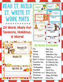 Read It, Build It, Write It Holiday & Seasonal Work Mats - 24 Mats Included!
