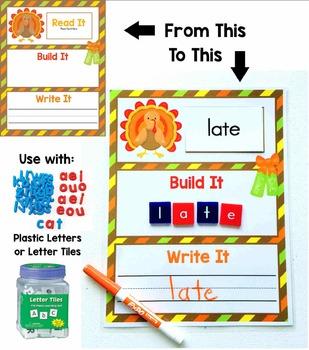 Read It, Build It, Write It Holiday & Seasonal Work Mats - 24 Mats Included!