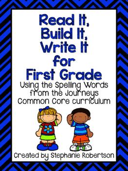 Read It, Build It, Write It Journeys Common Core 2014 1st Grade Spelling Words