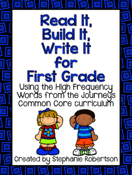 Read It, Build It, Write It Journeys Common Core 2014 ed Words to Know 1st Grade