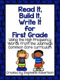 Read It, Build It, Write It Journeys Common Core 2014 ed W