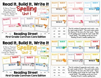Read It, Build It, Write It Reading Street Common Core Spelling Words: ALL UNITS