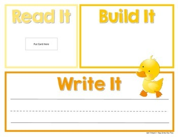 Read It, Build It, Write It Reading Street Common Core Spelling Words for Unit 3