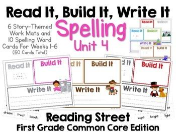 Read It, Build It, Write It Reading Street Common Core Spe