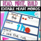 Editable Sight Word Activities Read It, Build It, Write It