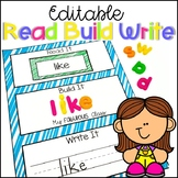 Editable Sight Word Activities Read It, Build It, Write It