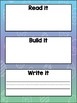 Read it, Build it, Write it Work Mats-EDITABLE
